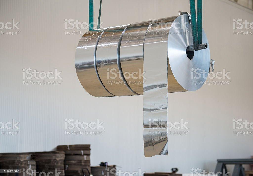 Large Aluminium Rolls stock photo