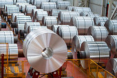 Large Aluminum Steel Rolls in the factory