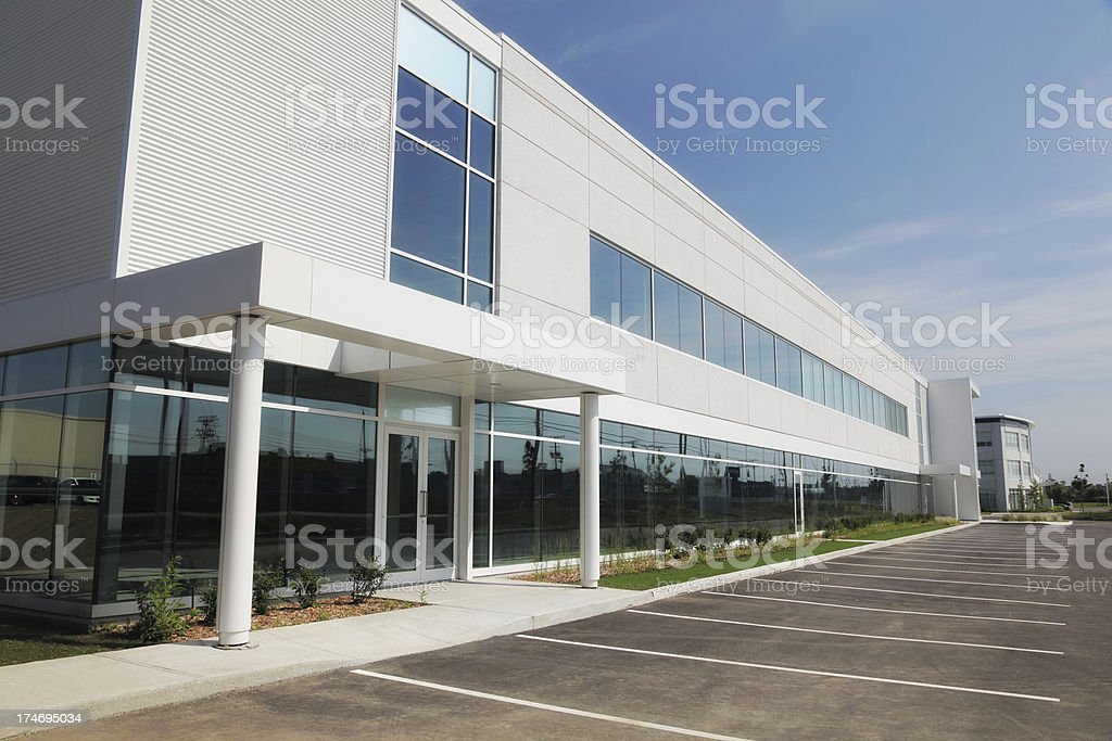 Large and Modern Business Entrance stock photo