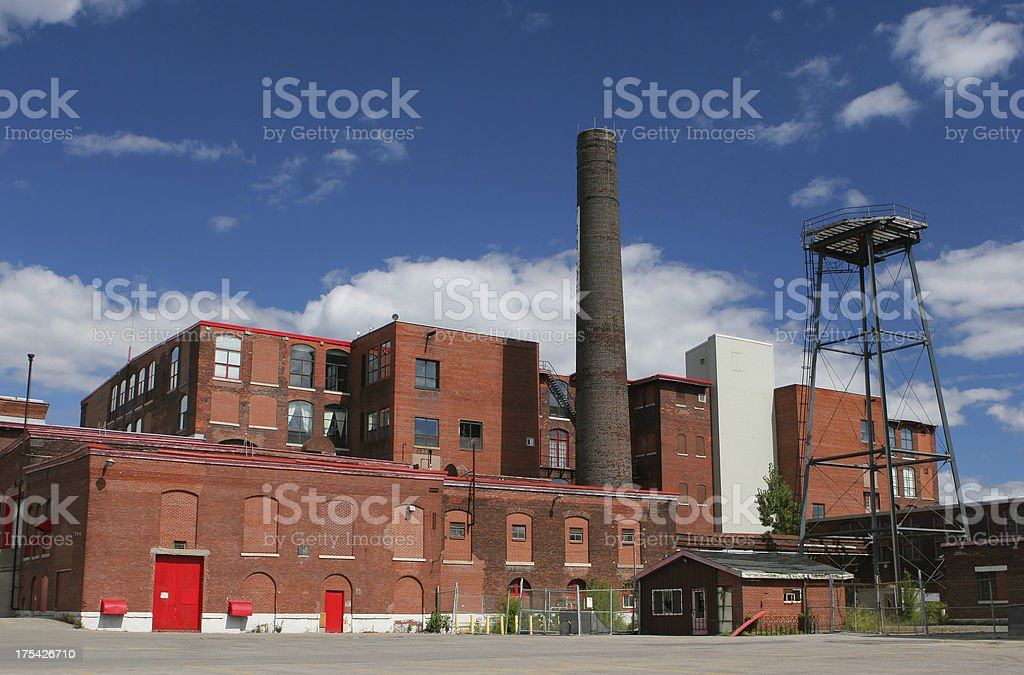 Large and Old Brick Industrial Building stock photo