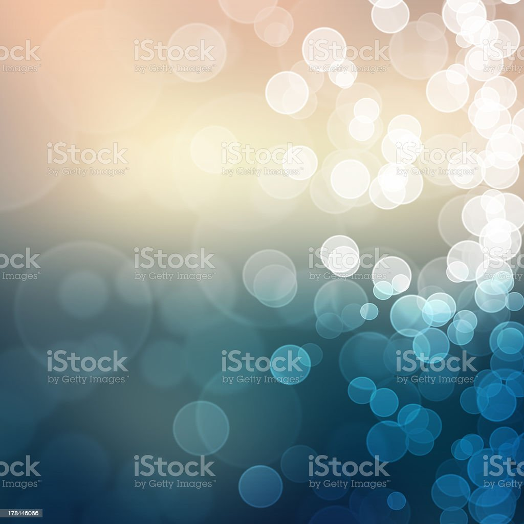 Large and small defocused bokeh lights abstract stock photo