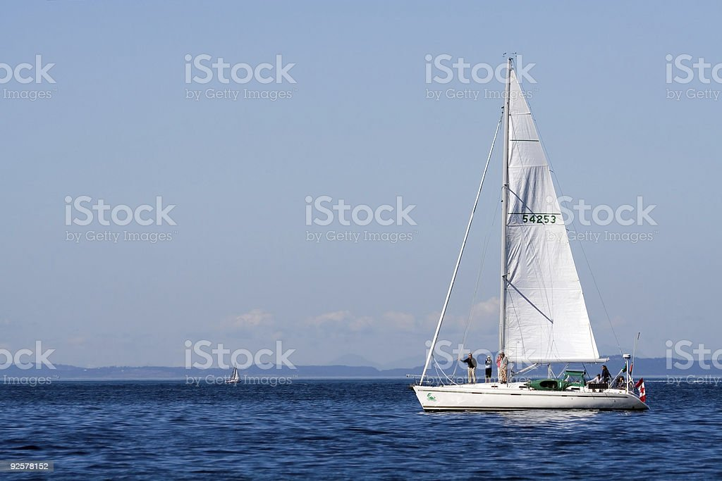 Large and Small Sailboats royalty-free stock photo