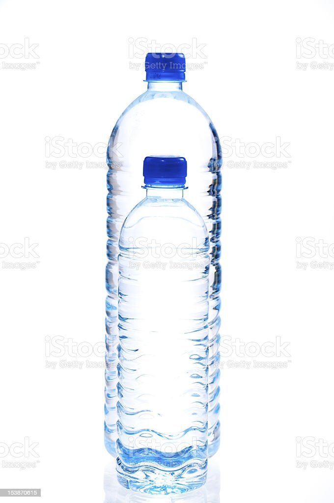 Large and small water bottle royalty-free stock photo