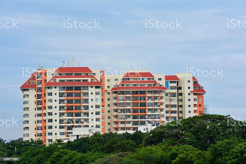 Large Apartment Building stock photo