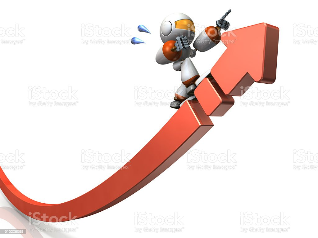 Large arrow representing the ambition stock photo