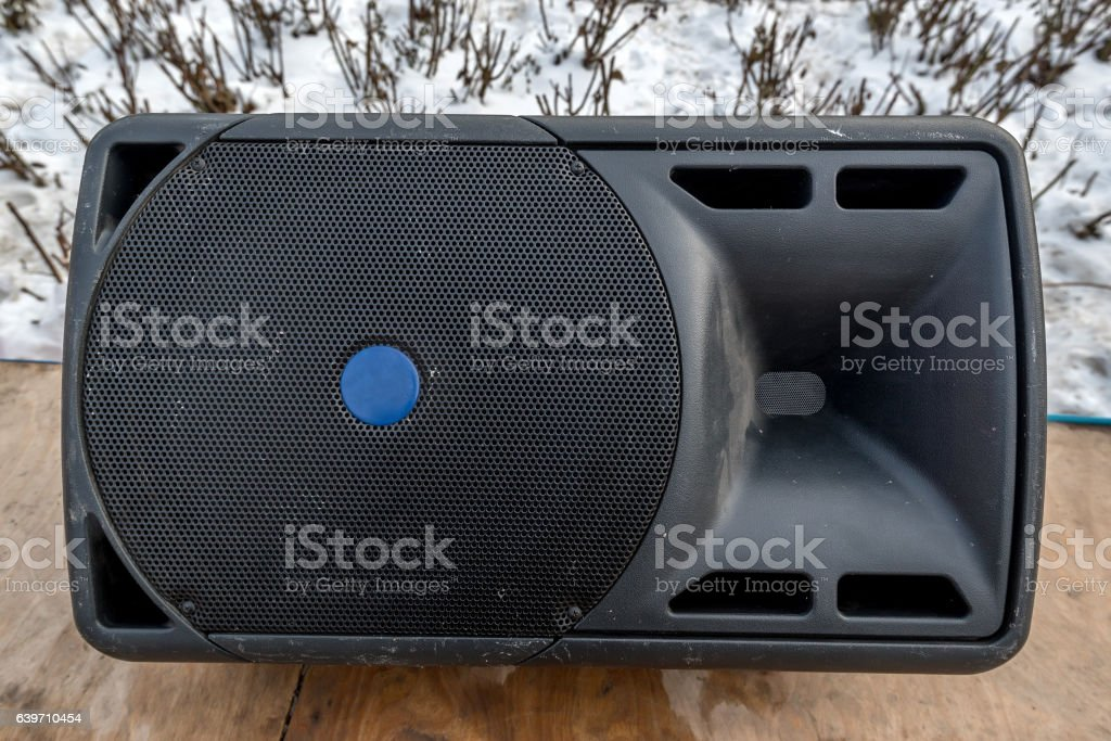 Large audio speaker stock photo