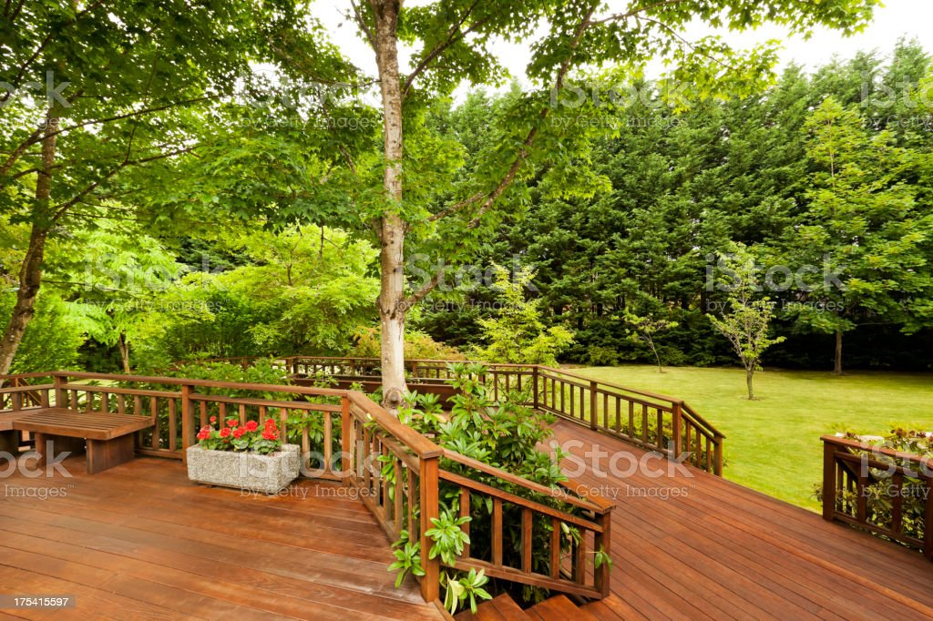 Large Back Deck stock photo