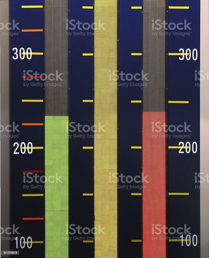 Large Bar Graph royalty-free stock photo