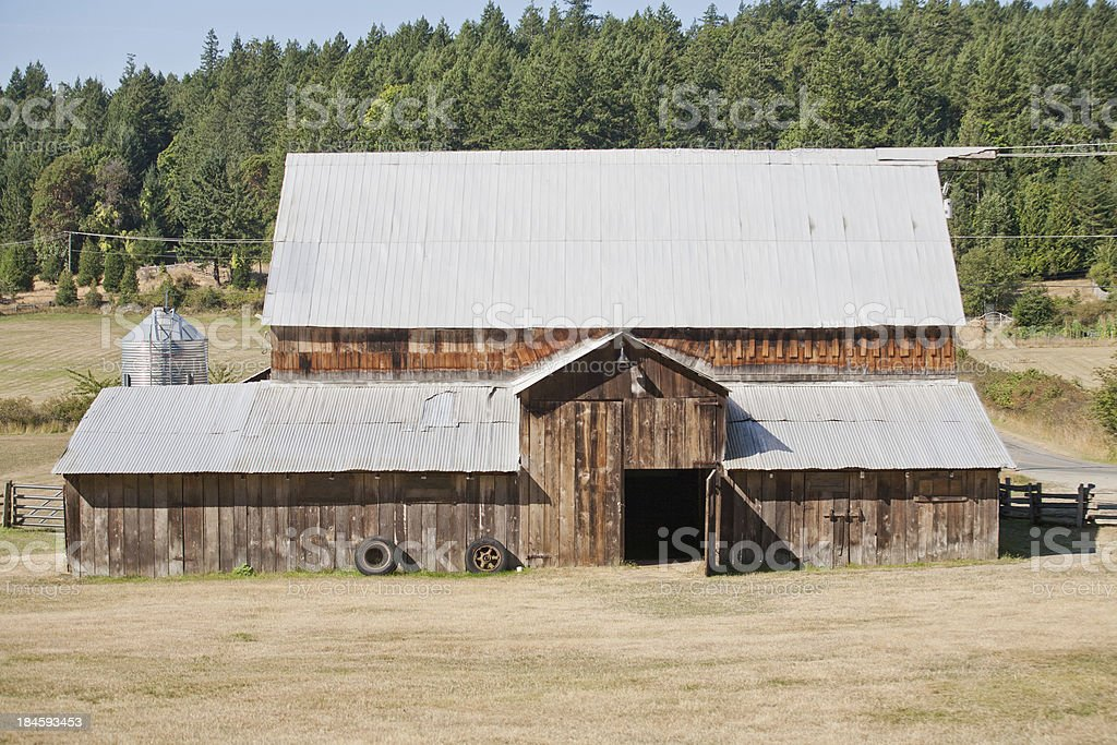 Large barn stock photo