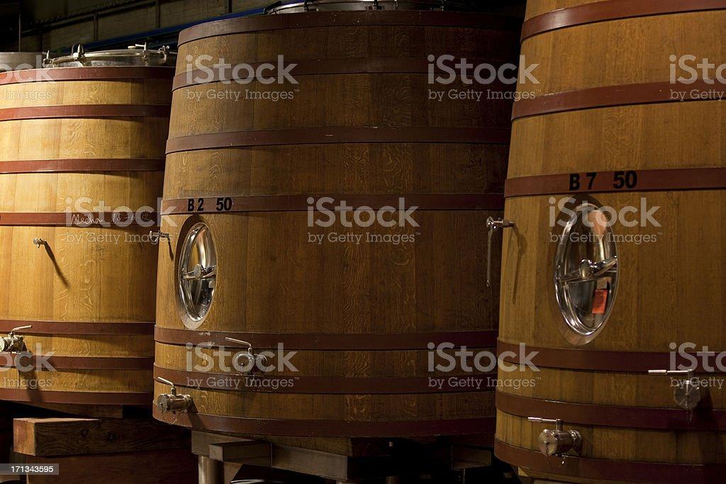 Large Barrels Cellar royalty-free stock photo