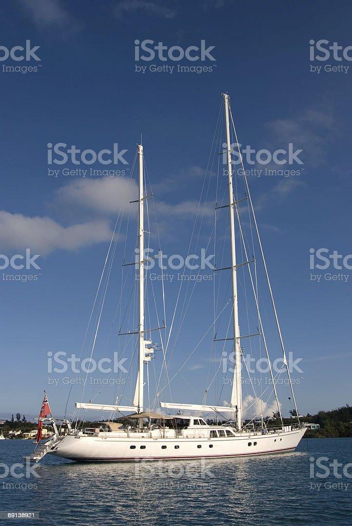 Large beautiful yacht royalty-free stock photo