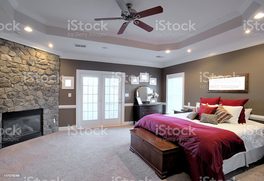 Large Bedroom Interior stock photo