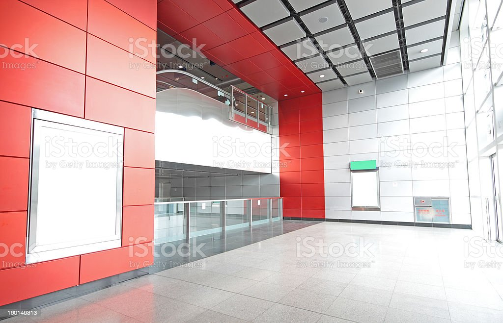 Large Billboard for advertisement use in a modern building royalty-free stock photo