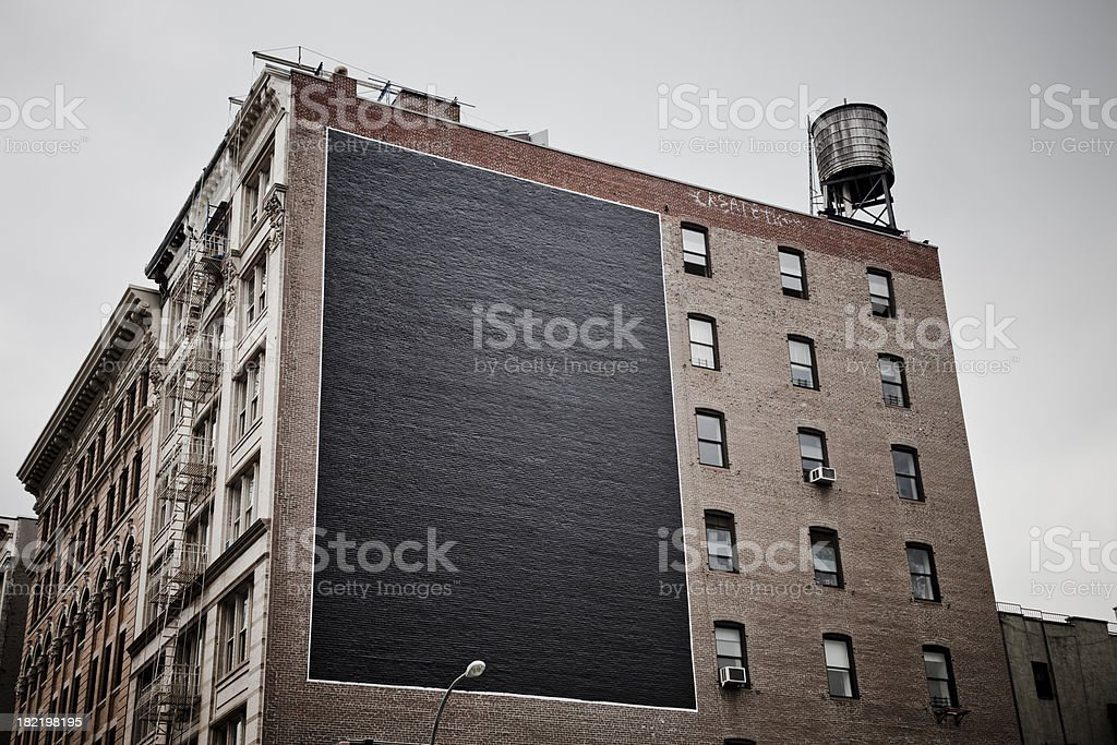 Large Billboard in the City royalty-free stock photo