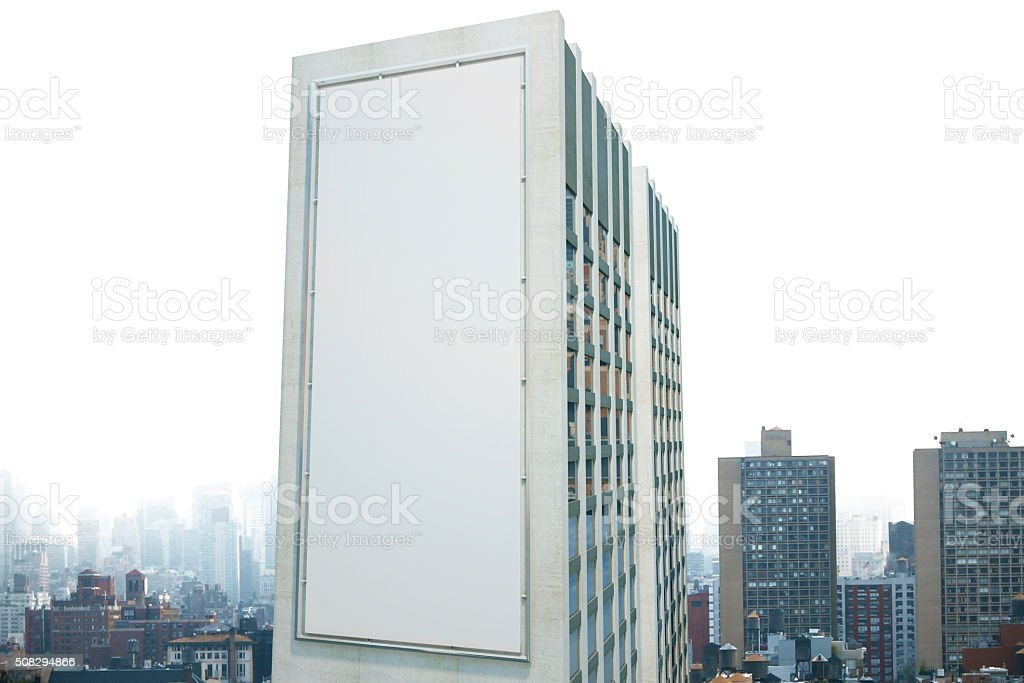 Large billboard on the wall of a building stock photo
