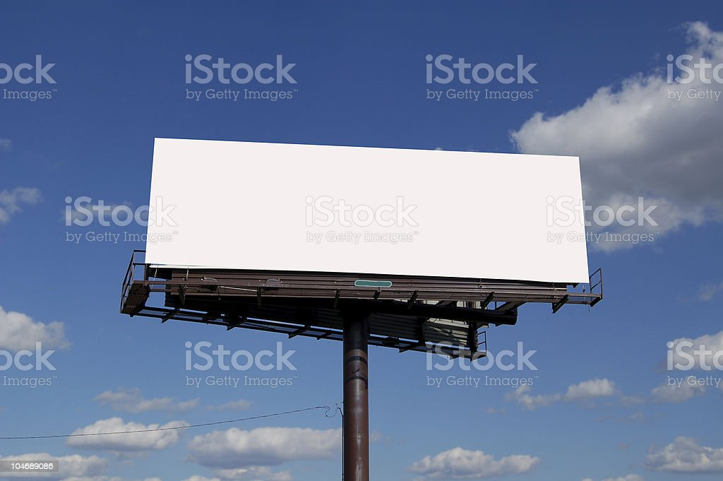large billboard royalty-free stock photo