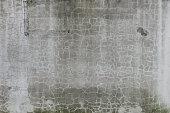 Large blank billboard on a street wall