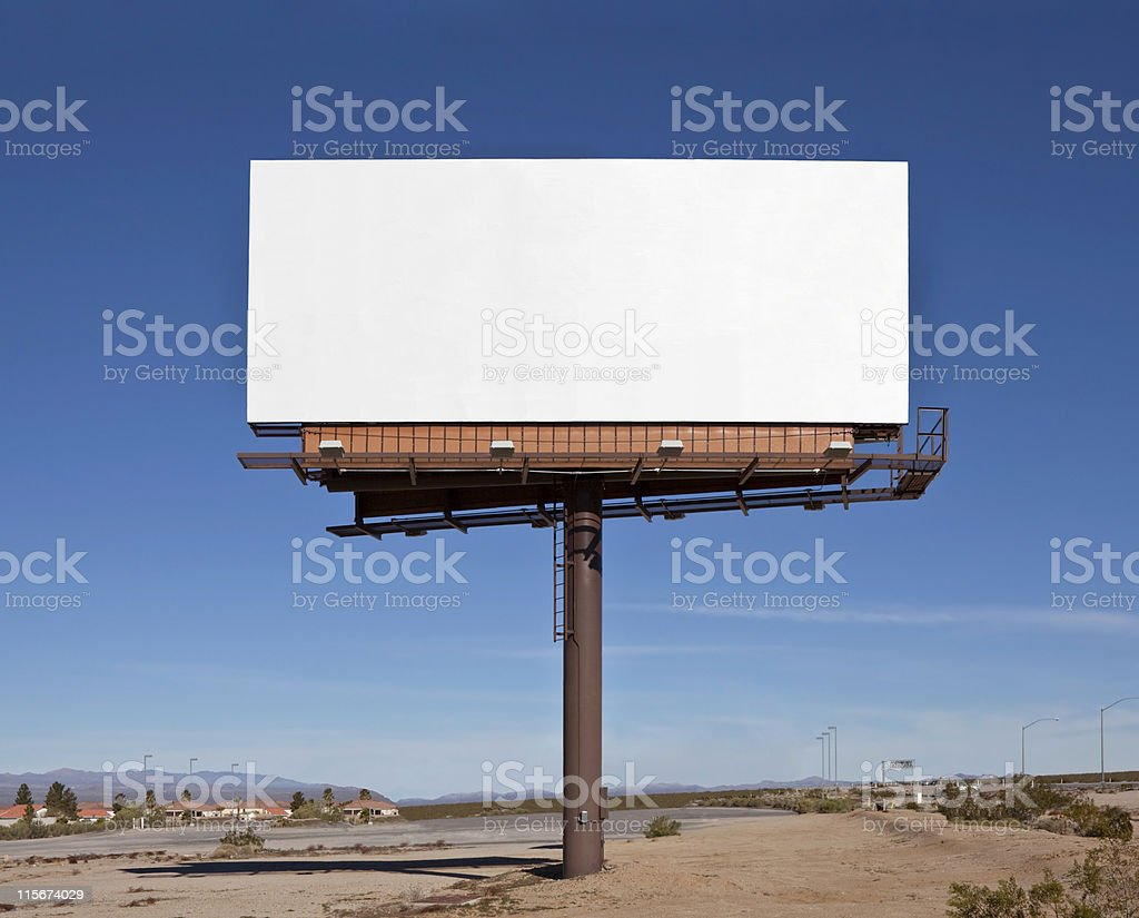 Large Blank Billboard stock photo