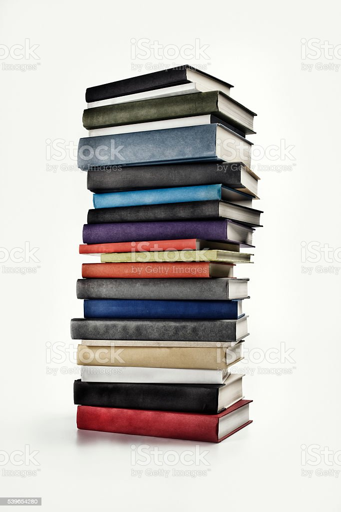 Large Book Stack stock photo