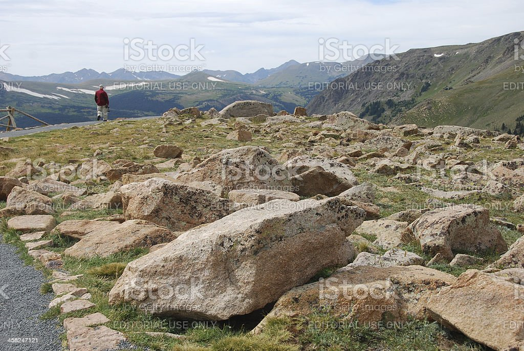 Large Boulders in Rocky Mountain National Park royalty-free stock photo