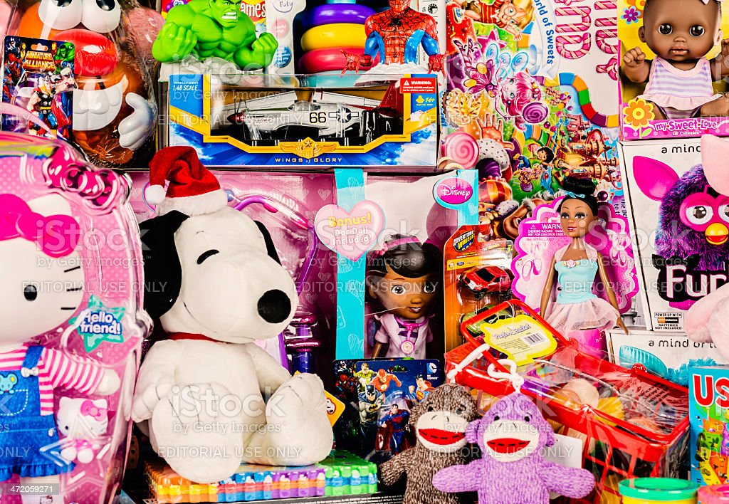 Large Brand New Toy Collection stock photo