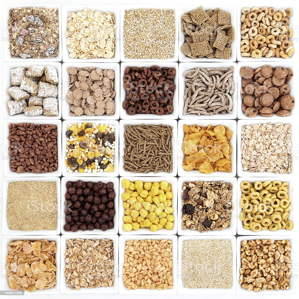 Large Breakfast Cereal Selection stock photo