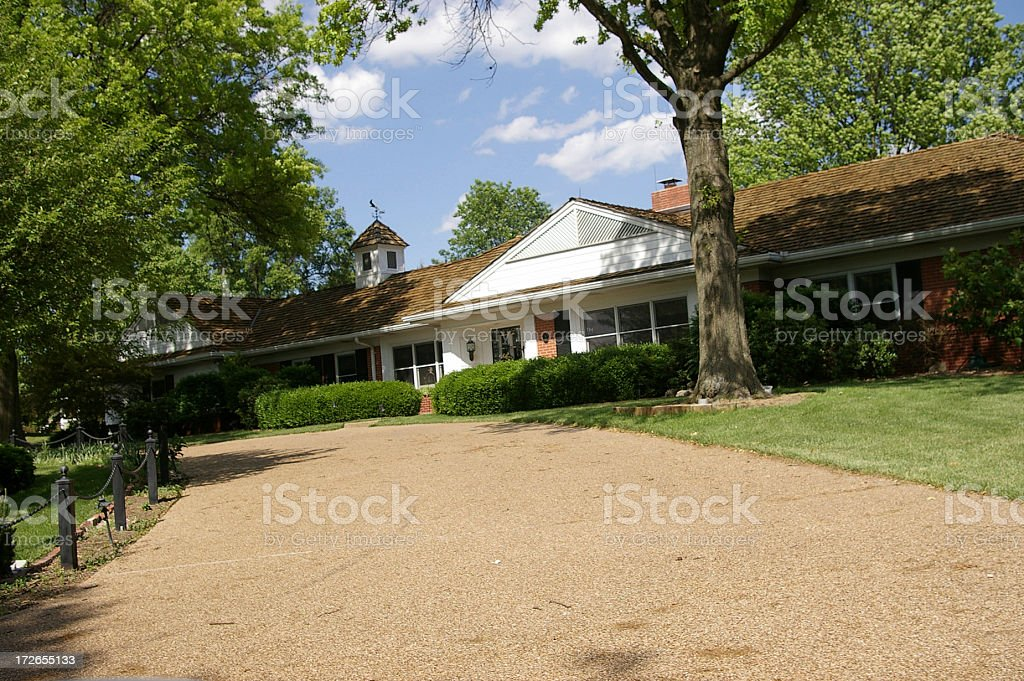 large brick home royalty-free stock photo