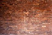 Large brick wall.