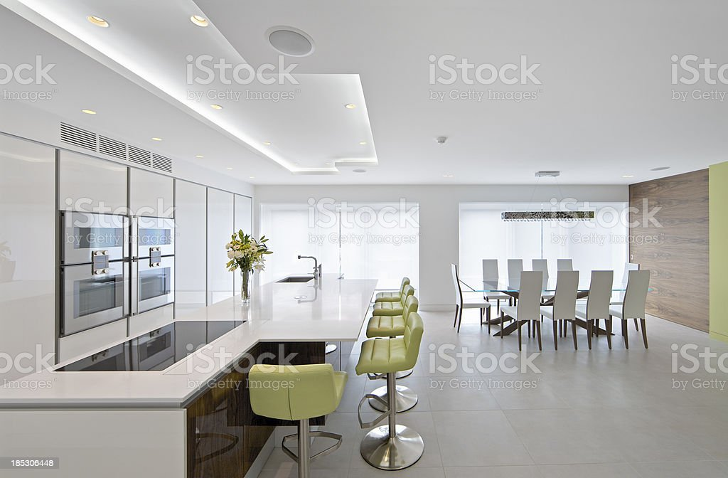 Large bright kitchen diner royalty-free stock photo