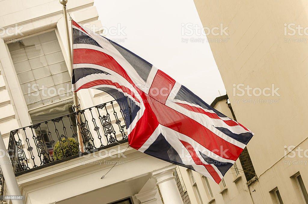 large British flag stock photo