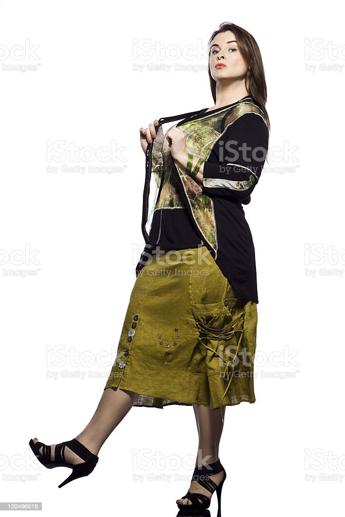 large build caucasian woman spring summer fashion royalty-free stock photo