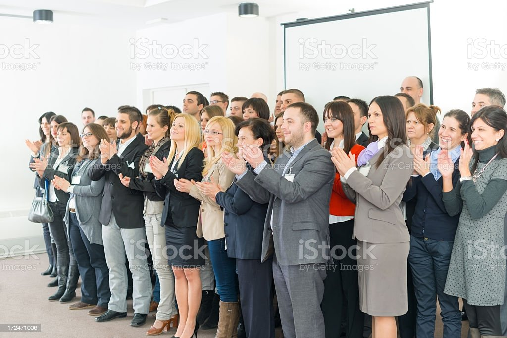 Large Business group applaud royalty-free stock photo