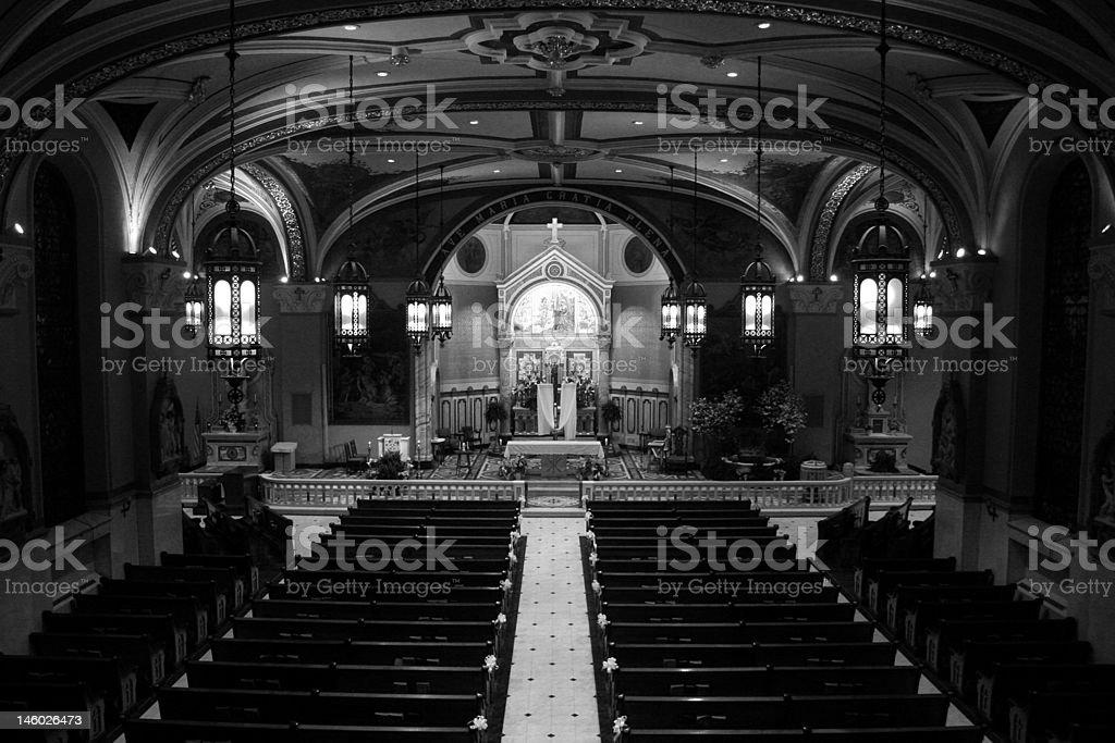 Large Catholic Church royalty-free stock photo