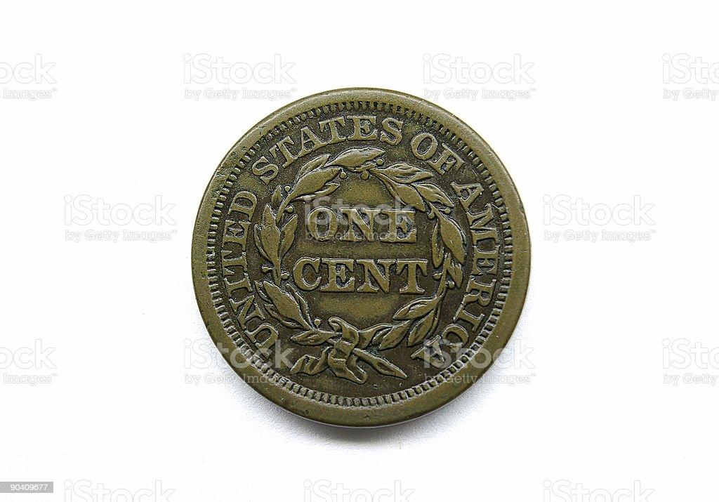 U.S. large cent stock photo