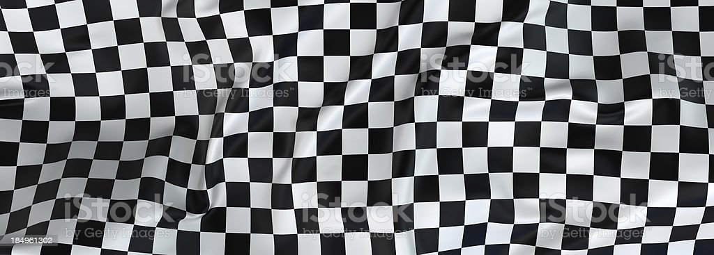Large checkered cloth fluttering in the wind stock photo