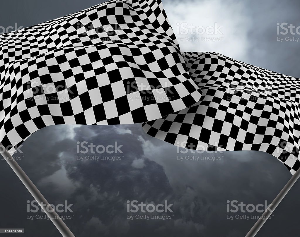 Large Checkered Flag royalty-free stock photo
