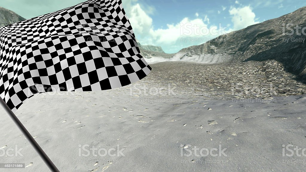 Large Checkered Flag stock photo