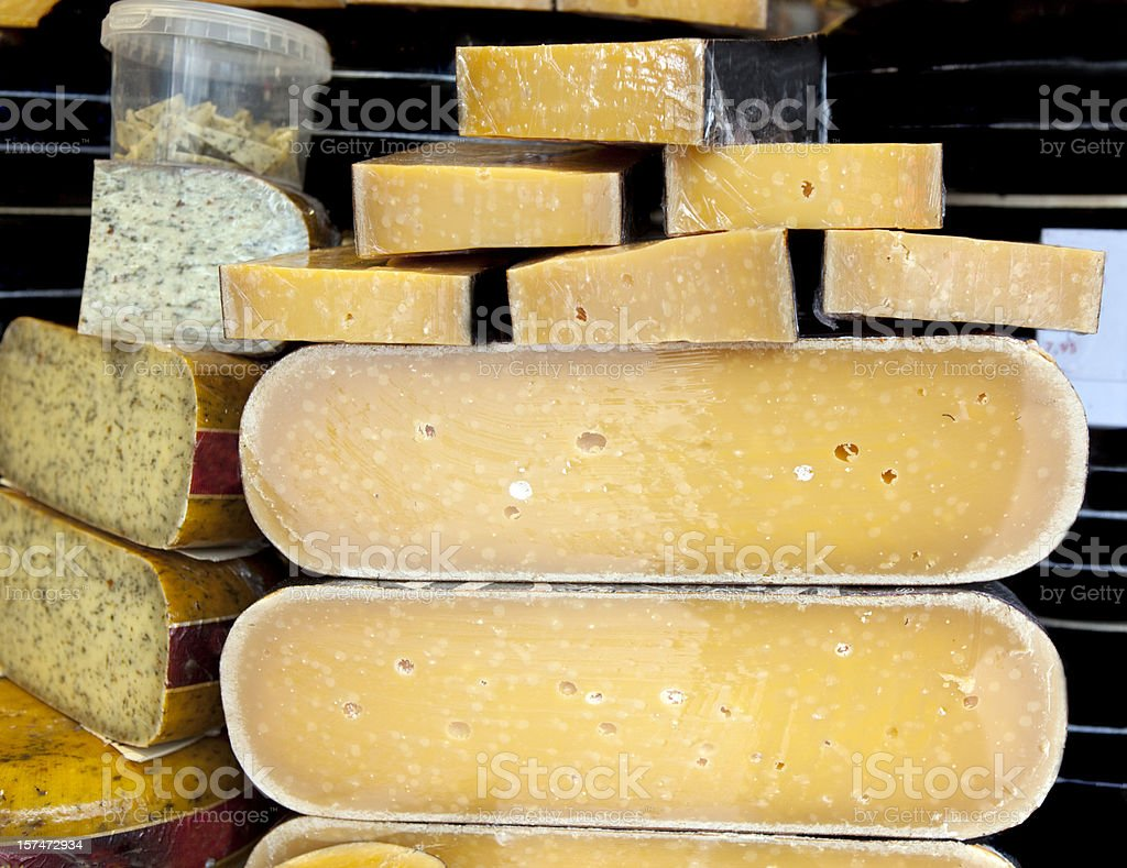 Large Cheese Slabs in Holland royalty-free stock photo