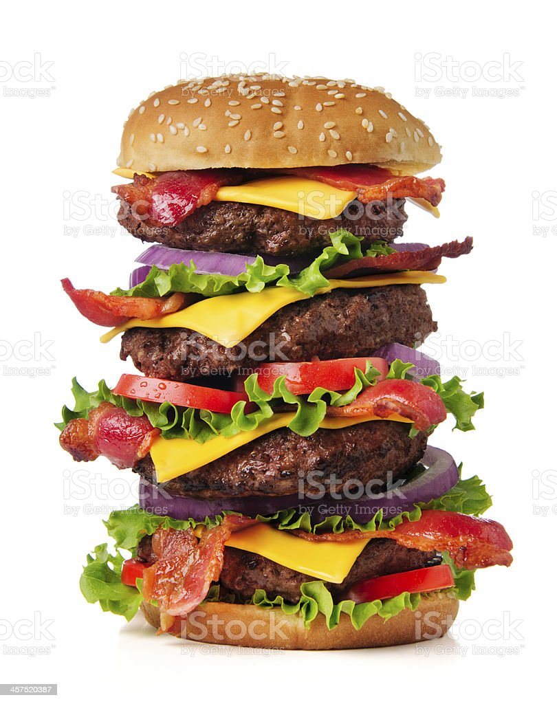 Large Cheeseburger stock photo