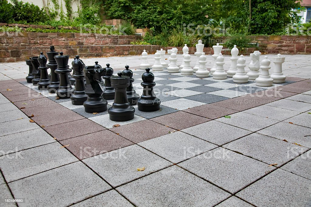 Large chess board stock photo