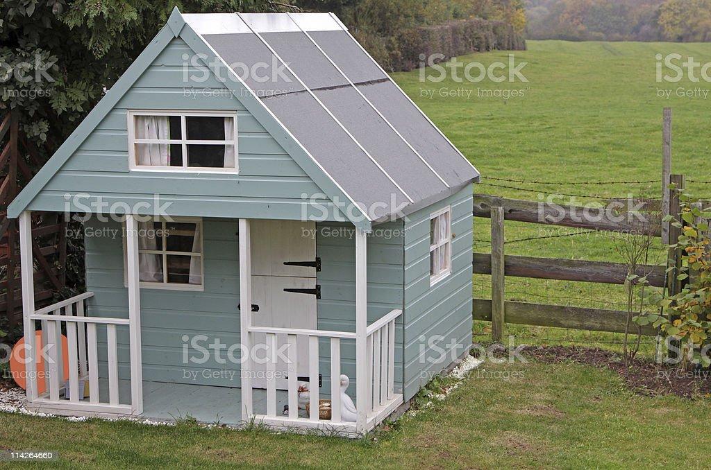 large childrens playhouse stock photo