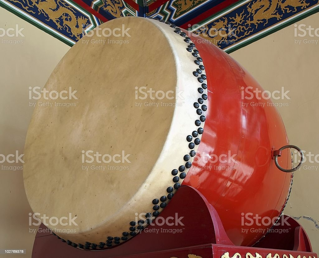 Large Chinese Drum stock photo