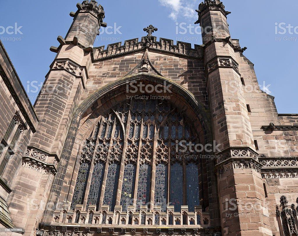 Large church window. royalty-free stock photo