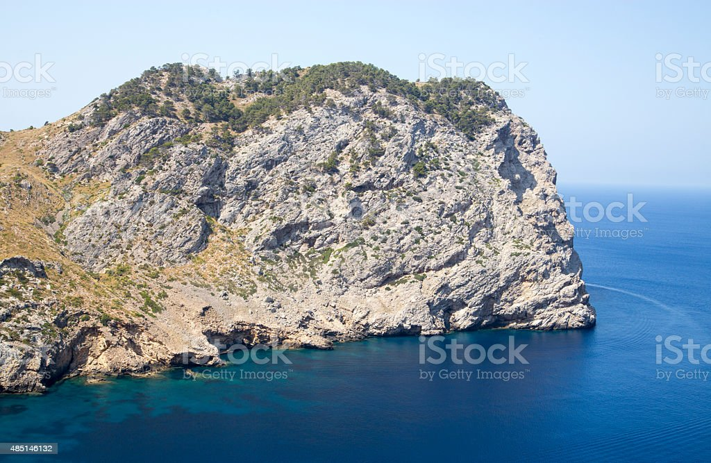 Large cliffs by Cap De Formentor in Mallorca, Spain royalty-free stock photo