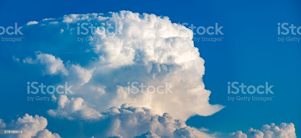 large clouds stock photo