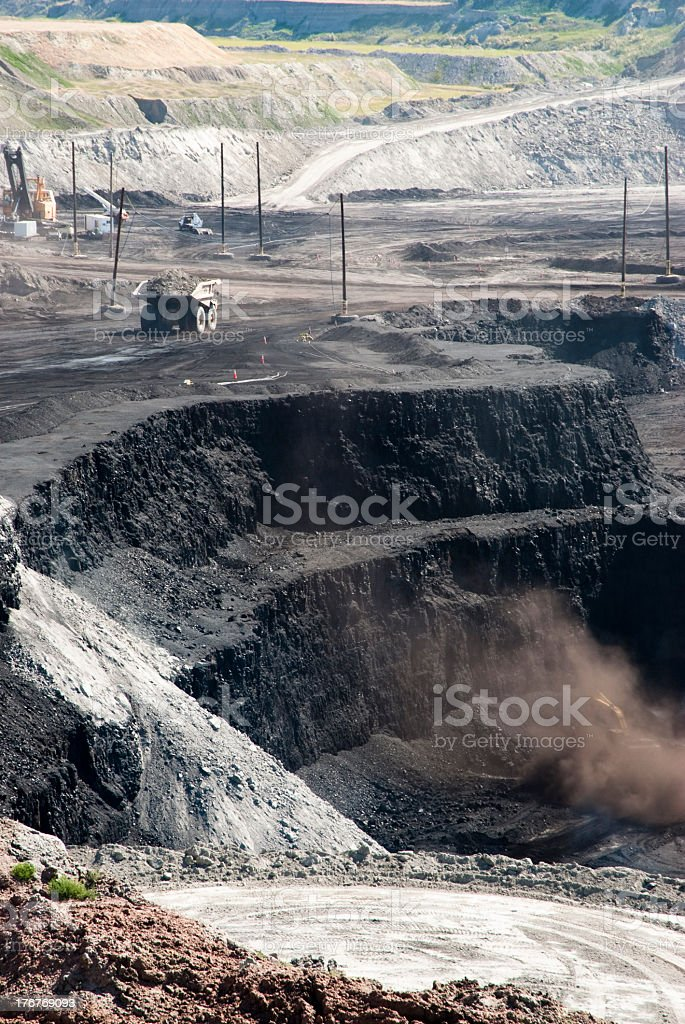 Large coal mine with machinery  royalty-free stock photo