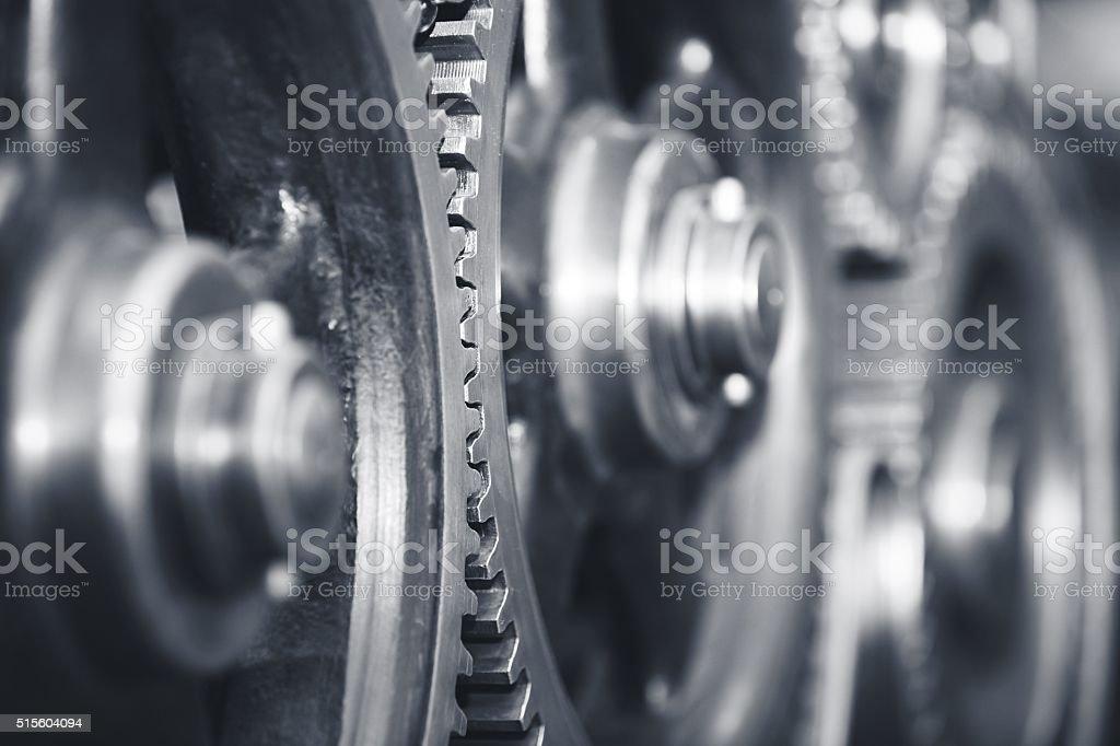Large cog wheels stock photo