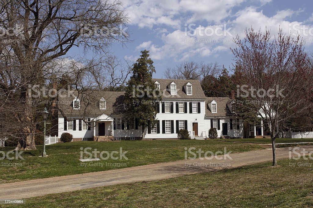 Large Colonial Home royalty-free stock photo