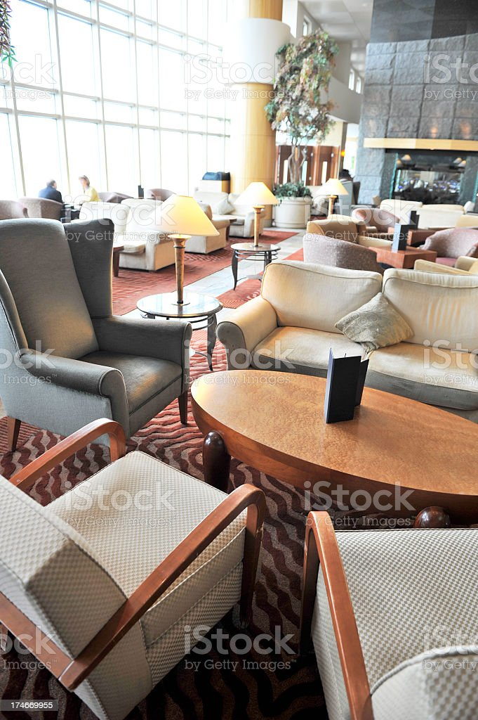 Large comfortable lounge with seating groups royalty-free stock photo