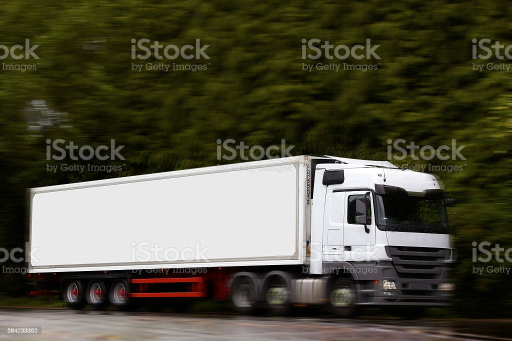Large commercial lorry stock photo